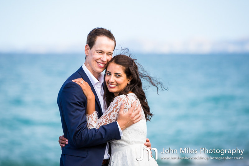 Asha & Dave Tucker's Napier Wedding Photographs - Knox Church, Ahuriri by John Miles Photography