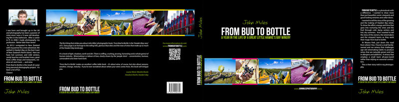 From Bud to Bottle - A Year in the Life of a Great Little Hawke's Bay Winery. By John Miles Photography