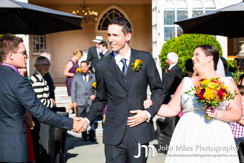 Simon and Alison Francis' Wedding at The Old Church, Napier - 14/3/15 - by Hawkes Bay Wedding Photographer, John Miles Photography