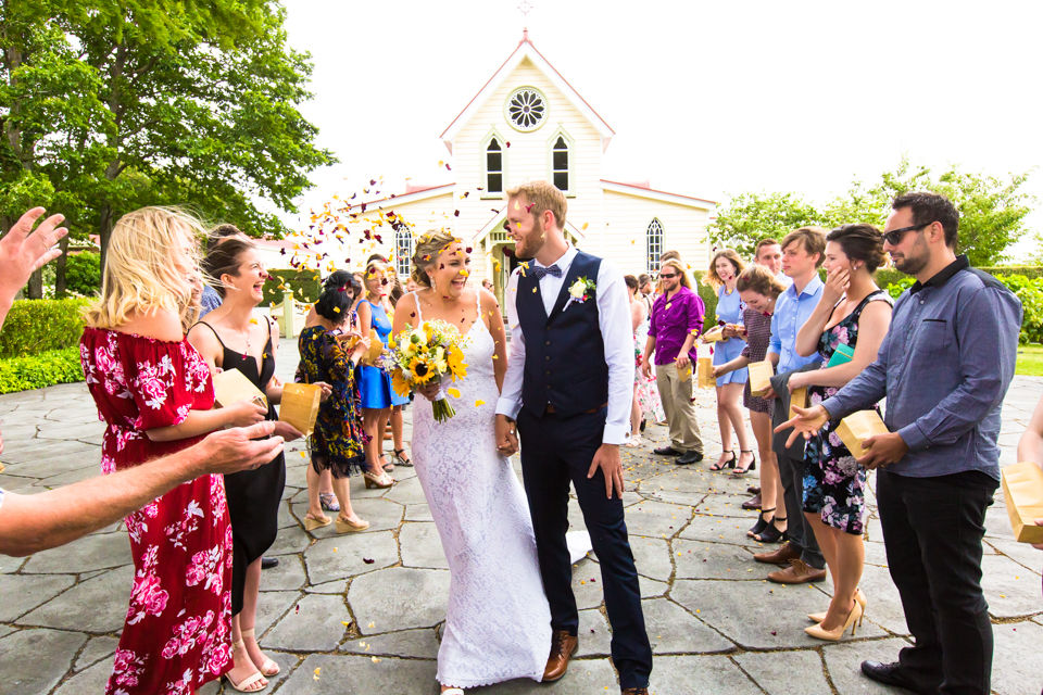 Neil & Kyra Piccione's wedding at The Old Church, Napier by Hawke's Bay Wedding Photographer John Miles Photography